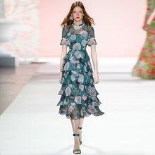 Элегантное платье gedivoen с цветочным принтом женское богемное