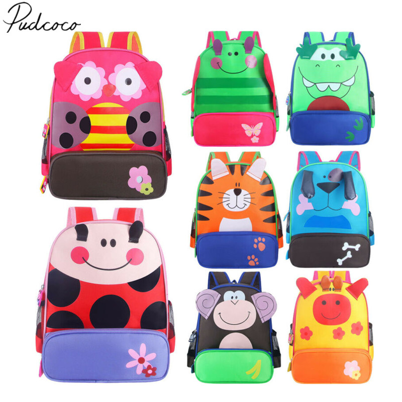 Toddler Kid Children Boy Girl 3D Cartoon Animal Backpack School Bag Rucksack