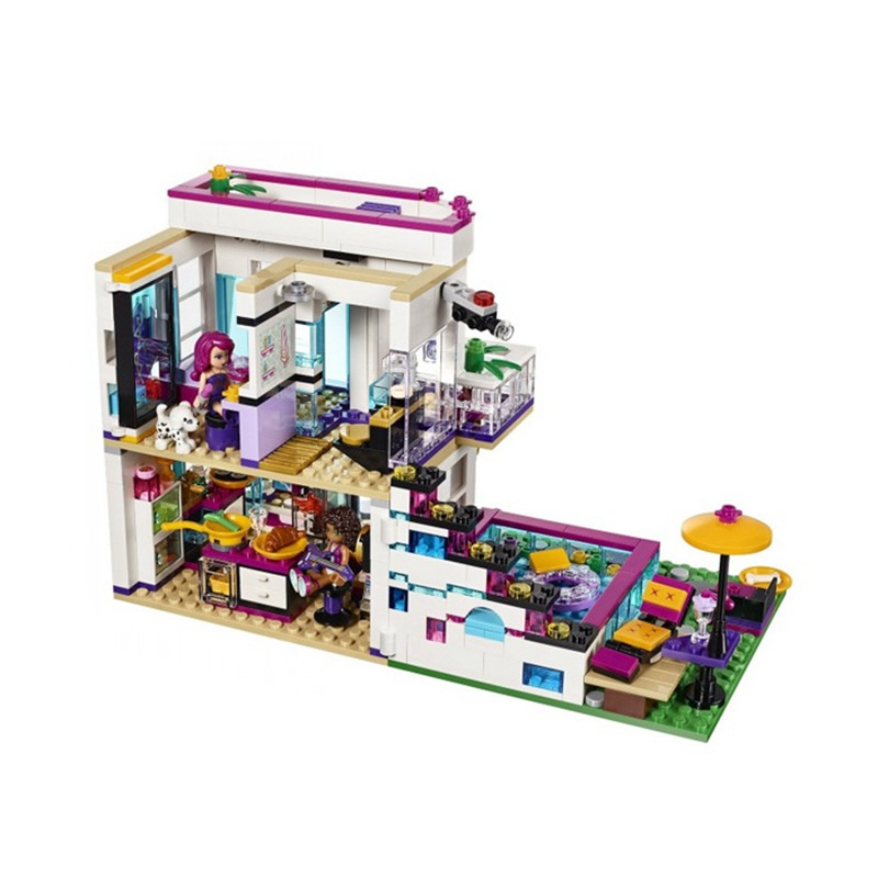 41135 City Model Blocks Building Block bricks Kits Girl Friends Livi's Star House 644pcs Emma Mia 3d Bricks Figure Toys <font><b>10498</b></font> image