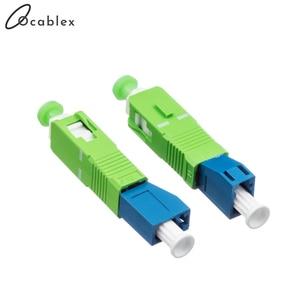 Image 2 - SC/APC LC/UPC Singlemode Optische Adapter SC Männlichen zu LC Weibliche Fiber Optic Adapter Freies Verschiffen