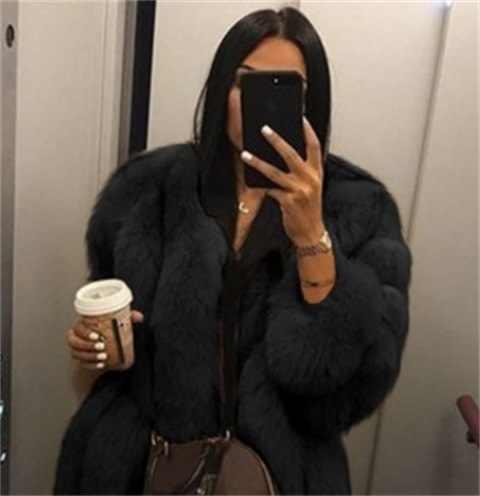 בציר פלאפי פו פרווה מעיל נשים קצר פרווה מזויף פרווה חורף הלבשה עליונה ורוד אפור מעיל סתיו מזדמן מסיבת מעיל