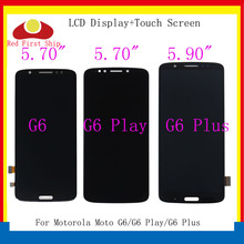 10Pcs/lot LCDs For Motorola Moto G6/G6 Play/G6 Plus LCD Display Touch Screen Digitizer Assembly for Moto G6 Plus LCD Replacement 5pcs lot for motorola moto x3 play xt1562 lcd display touch screen digitizer assembly black white free dhl