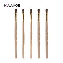 Maange boa qualidade 2/3//5 pçs pro sobrancelha maquiagem escovas conjunto ângulo eyeliner olhos sobrancelha pó cosméticos beleza compõem kits de ferramentas