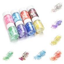 Moule en résine époxy UV coloré pour la fabrication de bijoux, 15ml, morceaux de sucre cassés, débris clignotants, matériel de remplissage en résine