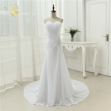 2020 New Arrival Vestido De Noiva Robe De Mariage Bridal Dress Mermaid Trumpet Chiffon Wedding Dresses