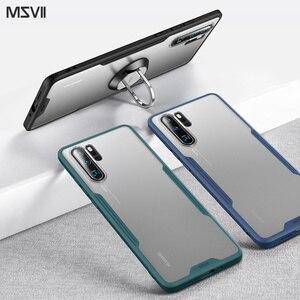 Image 5 - Msvii caso de luxo para huawei p20 pro caso transparente para huawei p30 pro silicone caso para huawei p20 capa traseira para huawei p30