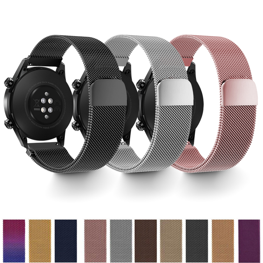 Huawei Watch Gt 2 Strap For Samsung Active 2 Gear S3 Frontier 22mm Watch Band Milanese Loop Bracelet Galaxy Watch 42mm 46mm