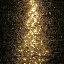 Thrisdar 200/600 tiras de luz LED con cable de cobre Rama de vid de árbol luz exterior jardín valla tienda vacaciones guirnalda de tipo cascada