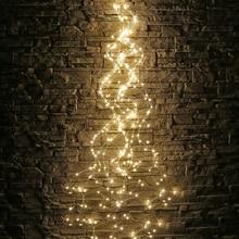 Thrisdar guirlande lumineuse de vigne darbre, 200/600 LED, fil de cuivre, éclairage dextérieur, guirlande de cascade, jardin, boutique, vacances