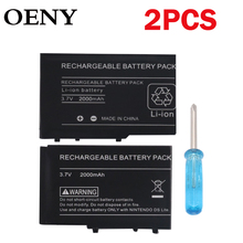 2pcs2000mAh 3.7V rechargeable battery2 x mini screwdriverSuperior  Rechargeable Lithium-ion Battery for Nintendo DSL NDS Lite