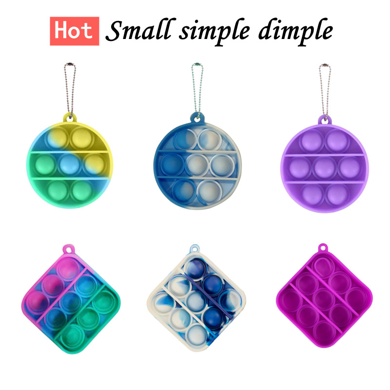 Fitget Toy Fidgets Simpel Dimpel Mini Anti-Stress-Board Pop-It-Keychain-Controller Kids