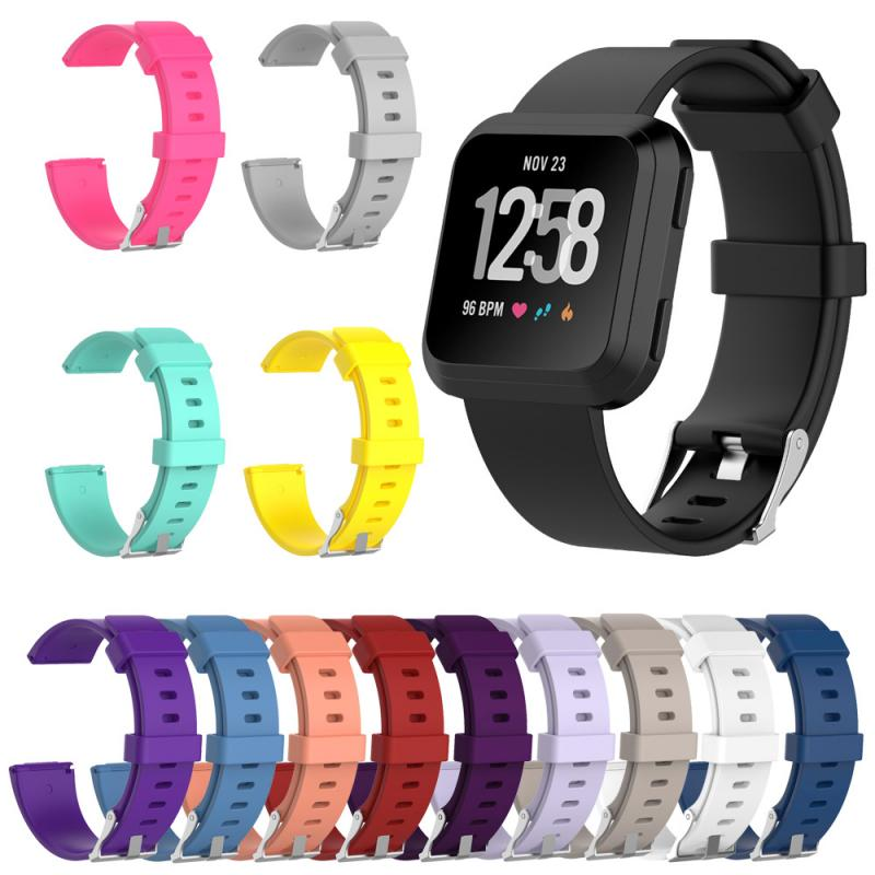 Replacement Wristband For Fitbit Versa Lite/Versa Smart Watch 1 2 Generation Glossy Silicone Strap Women Fashion Watch Band