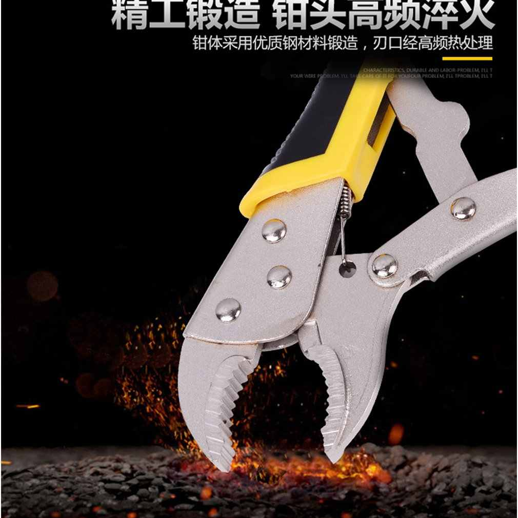 10 Inch Multifunctionele Tang Handleiding Druk Tang Verstelbare Vaste Tang Ronde Mond Duurzame Antislip Industriële Kwaliteit