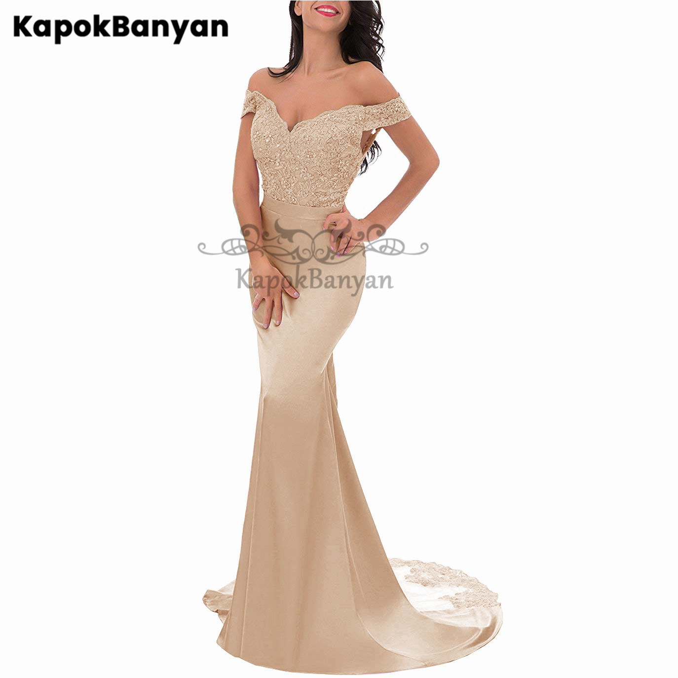 36 Colors Available Off the Shoulder Lace Mermaid Bridesmaid Dress Zipper Split Tulle Train Wedding Party Gown