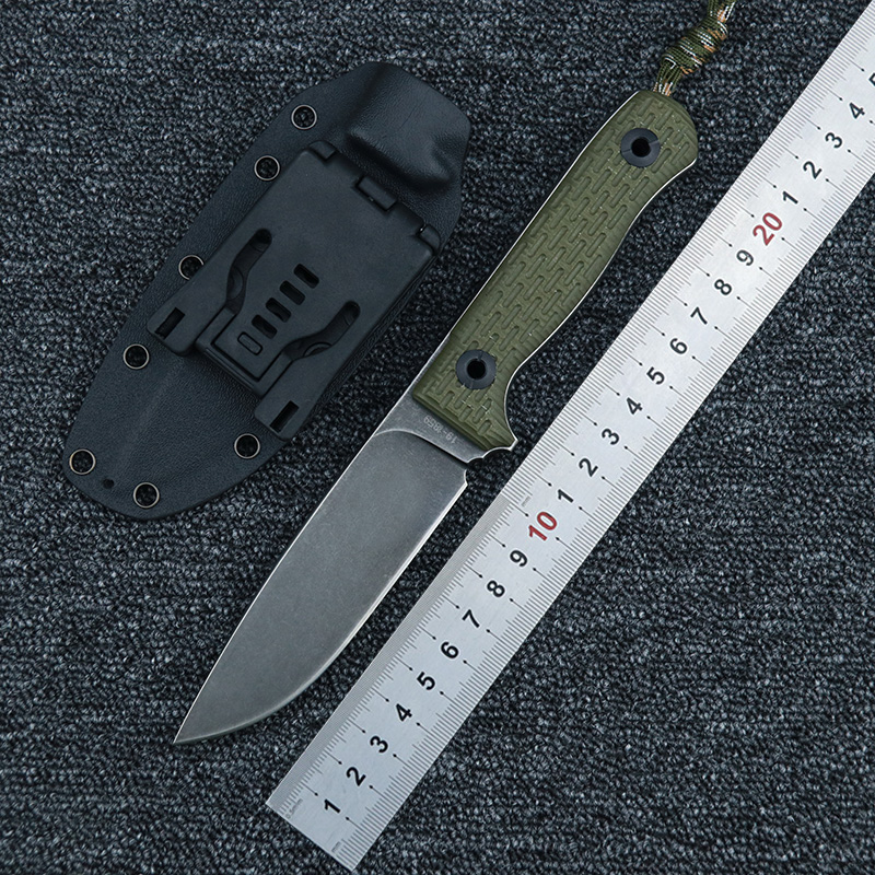 LEMIFSHE Knife Niolox Blade G10 Handle K Sheath Outdoor Camping Woodworking Garden Multi-purpose Hunting Tools