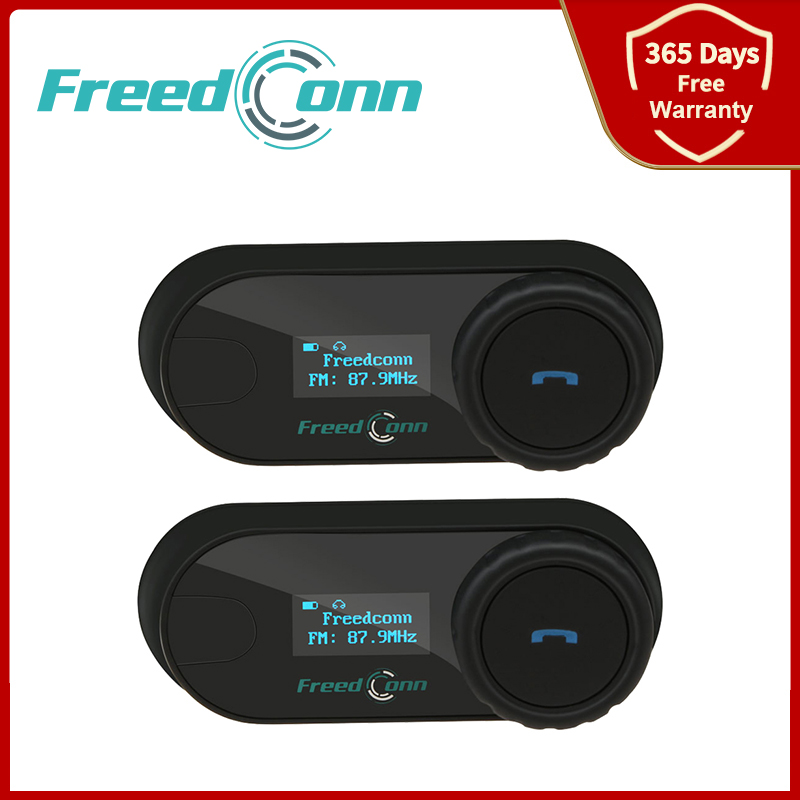 Freedconn TCOM SC Intercom Motorcycle Helmet Wireless Bluetooth Headset LCD Display FM Radio 3 Riders Intercomunicador Moto