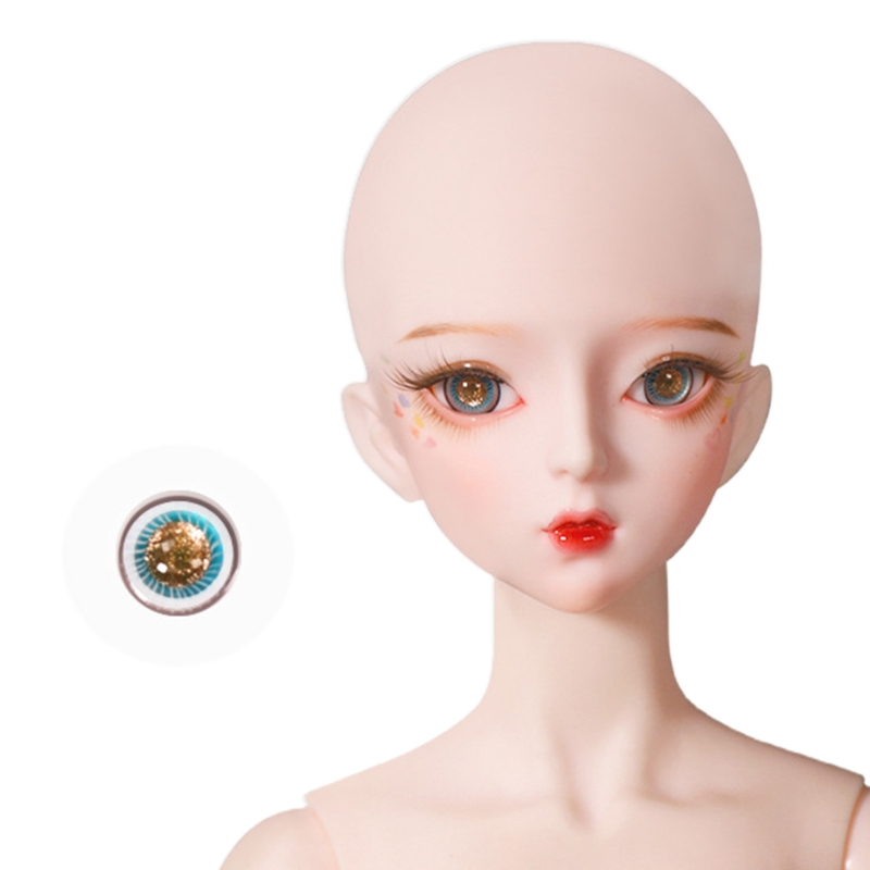 For Bjd Eyeball 14mm Glass Material Green Blue Eyes Suitable For 1/3 1/4 Doll Accessories 13