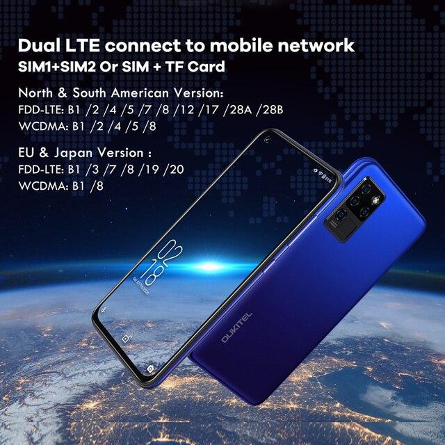 OUKITEL C21 6.4'' FHD+ Hole Punch Screen Mobile Phone 20MP Camera Helio P60 Octa Core 4GB 64GB 4G Smartphone 4000mAh 4