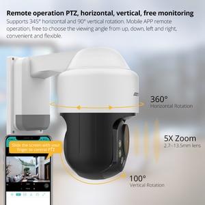 Image 3 - ATFMI واي فاي 1080P PTZ IP كاميرا 4X التكبير كاميرا شبكة مراقبة كامل اللون للرؤية الليلية H265 2MP مقاوم للماء IP66 IR 60m PTZ 1920X1080
