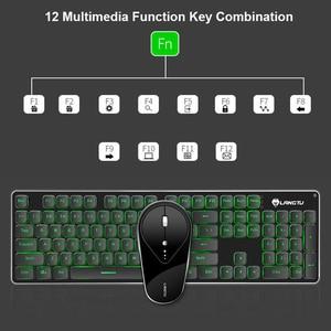 Image 2 - Gaming Draadloze Toetsenbord Muis Combo 104 Toetsen Waterdicht Regenboog Backlight Voor Pc Laptop Gamer Games Muizen En Toetsenborden Kit