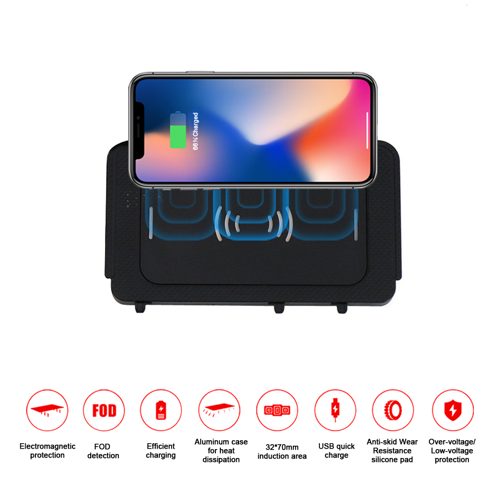 Aotsr QI Wireless Car Charger For Volkswagen Teramont/Phideon 2016+ Intelligent Infrared Fast Wireless Charging Phone Holder