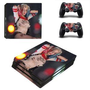 Image 2 - Tự Sát Đội Hình Harley Quinn PS4 Pro Miếng Dán Play Station 4 Miếng Dán Skin Decal Cho Máy Chơi Game PlayStation 4 PS4 Pro Tay Cầm & bộ Điều Khiển Da