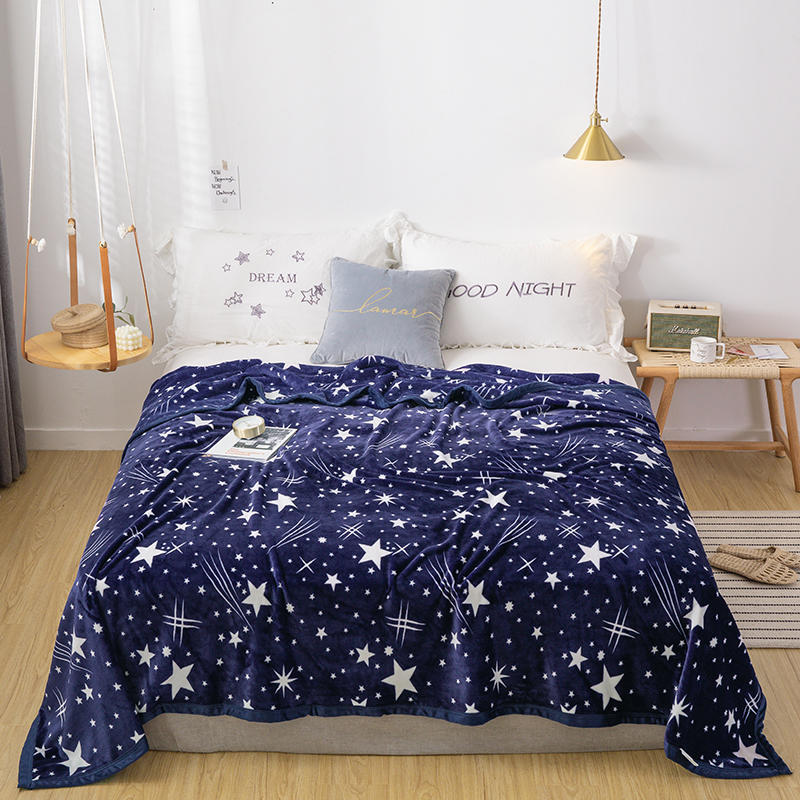 Star Blanket Bedspread Super Soft Fleece Blanket Sofa Bed Car Portable Plaids Winter Decoration Kids Mantas De Cama <font><b>150</b></font> <font><b>200</b></font> Gift image