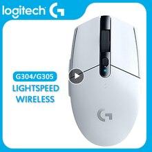 Оригинальная Беспроводная игровая мышь Logitech G305 Lightspeed G304 Lightspeed с датчиком героя 12000DPI CS GO/LOL 1ms Connect белого и черного цвета