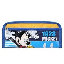 Mickey cute cartoon pencil case bag simple stationery Navy blue pen