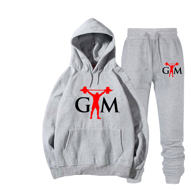 New GTM Brand Tracksuit Men Thermal Men Sportswear Sets Fleece Thick Hoodie+Pants Sporting Suit Casual Sweatshirts Sport Suit