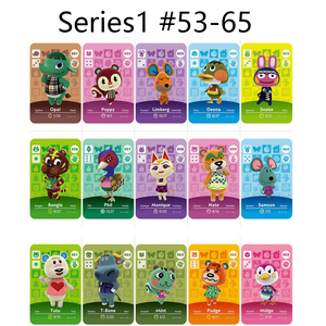Series 1 (53-65) Animal Crossing Card Amiibo Cards locks nfc Card Work for Switch NS 3ds Games Series 1 (53 to 65) Animal Cross(China)