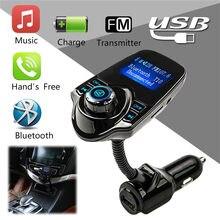 Flexível fm modulador transmissor de rádio bluetooth fm 2.1a usb carregador de carro kit carro sem fio aux áudio fm transmissor