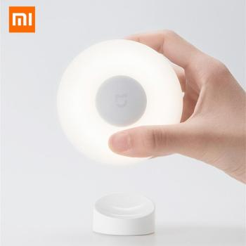 Original Xiaomi Mijia Led Induction Night Light 2 360 Rotating Adjustable Brightness Infrared Smart Motion Sensor Magnetic Base