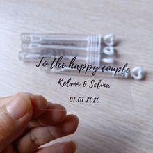 Personalized Wedding Bubble-Labels Custom Transparent 100pcs/Set