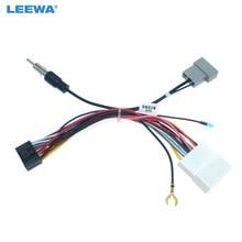 Leewa 16pin unidade de cabeça do carro fio arnês adaptador de rádio estéreo do carro conector de alimentação para nissan oem carro rádio arnês # ca2049