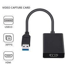 Nowa karta przechwytywania wideo USB 3.0 HDMI Video Grabber Record Box na PS4 gra DVD aparat fotograficzny z kamerą nagrywanie przekaz na żywo