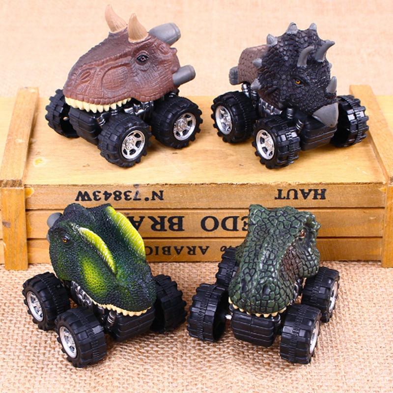 Makinë për fëmijë tërheq lodër makine dinosauri me rrota të - Makina lodër për fëmije - Foto 2