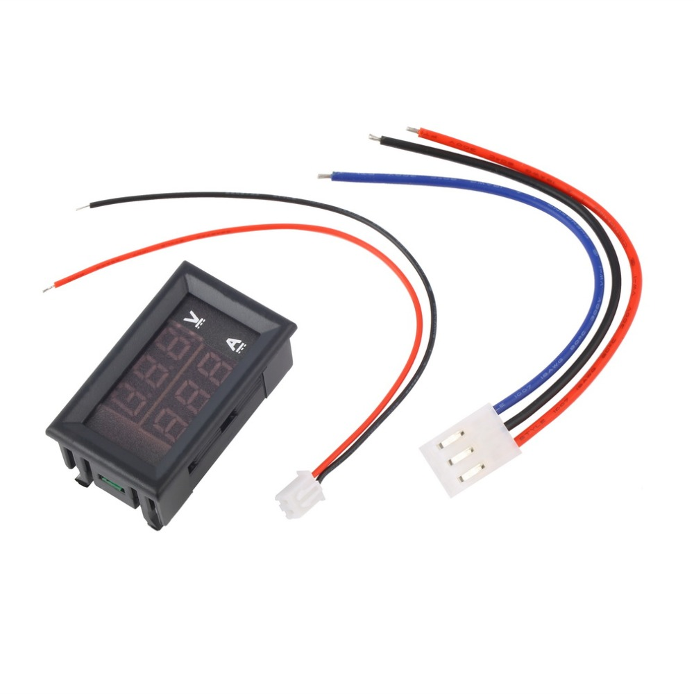 New DC 100 V 10A Voltmeter Ammeter Blue + Red LED Digital Voltmeter Gauge Amp Dual Voltage Current For Home Tool Use Promotion