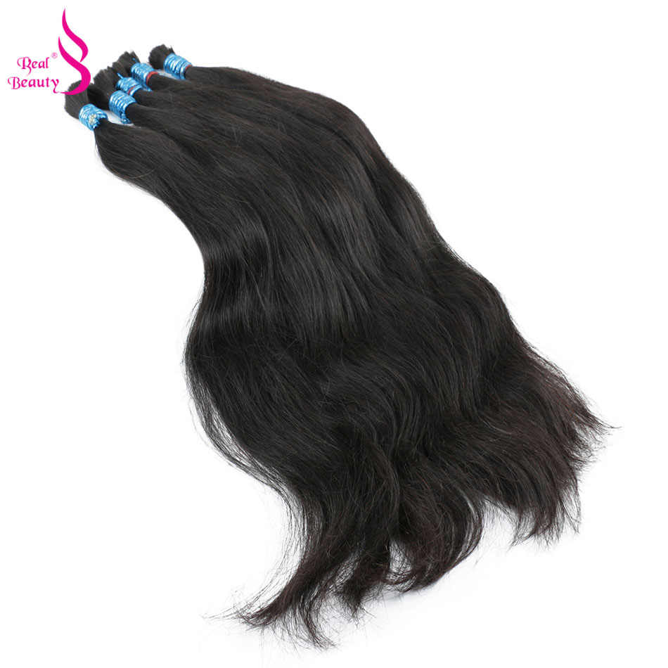 Echt Schönheit Remy Menschenhaar Brasilianische Gerade Groß Haar Für Flechten Natürliche Farbe Kein Schuss Häkeln Zöpfe