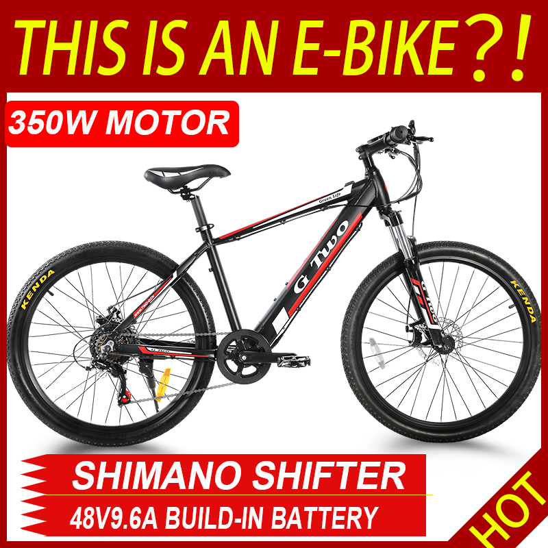 GG 26inch 27.5Inch Electric Mountain Bike 48V9.6Ah Lithium Battery 350W SENSOR Electric Bike E-BIKE Shinano27s Electronic MTB