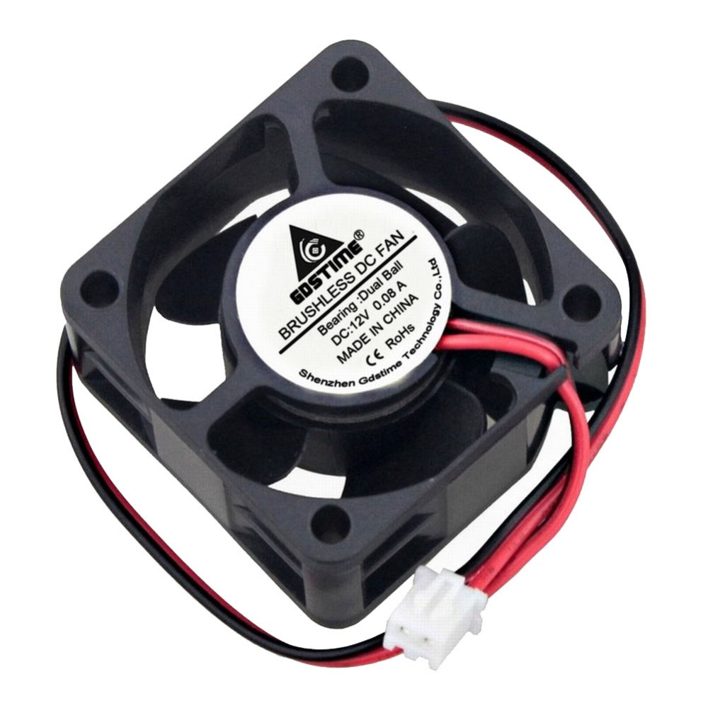 20 шт. Gdstime 12 В DC 4010B 2Pin шарикоподшипник вентилятор радиатора для 3D-принтера 40X40X20 мм Мини 4 см вентилятор охлаждения