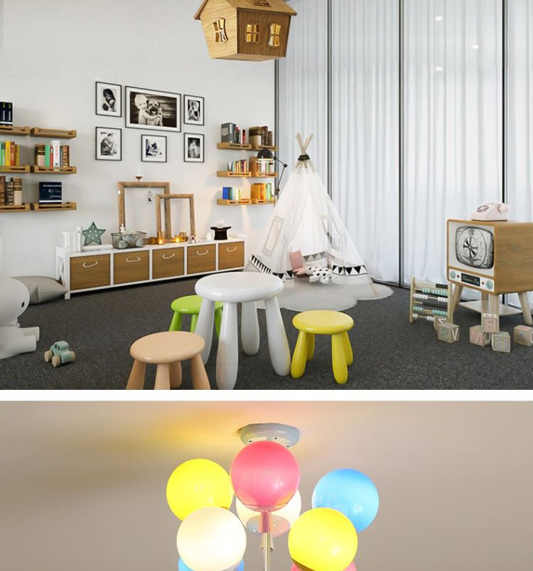 Hdd9ca17e2dd44024945b5d09f85233a49 Ceiling light Childrens room living room restaurant dining room decorative lights for home kids simple Modern led ceiling lamp