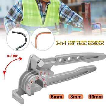 Trzy-w-jednym 180 stopni 6mm 8mm 10mm giętarka do rur rura miedziana rura do klimatyzacji ręczne narzędzie do łokcia tanie i dobre opinie Rury Instrukcja Naciśnij hamulec JJ196382