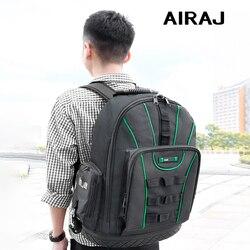 AIRAJ Multi-funktion Werkzeug Rucksack 1680D Wasserdicht und Verschleiß-beständig Werkzeug Lagerung Tasche für Elektriker/Holzbearbeitung Werkzeug tasche