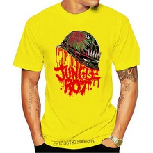 Jungle Rot Volle Metall Rot Schwarz T Shirt Death Metall Unheimliche Grab Master Männer Hohe Qualität Tees
