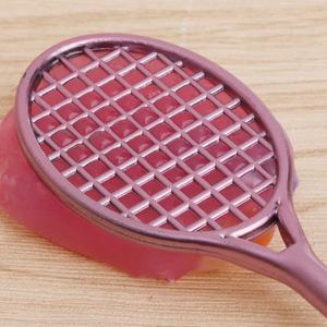 Mini Badminton Racket Slime Form Crystal Soil Kit Play With Slime Gel Pen Q6PD