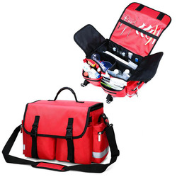 Outdoor First Aid Kit Outdoor Sports Red Nylon Waterproof Cross Messenger Bag Family Travel Emergency Medical Bag DJJB055