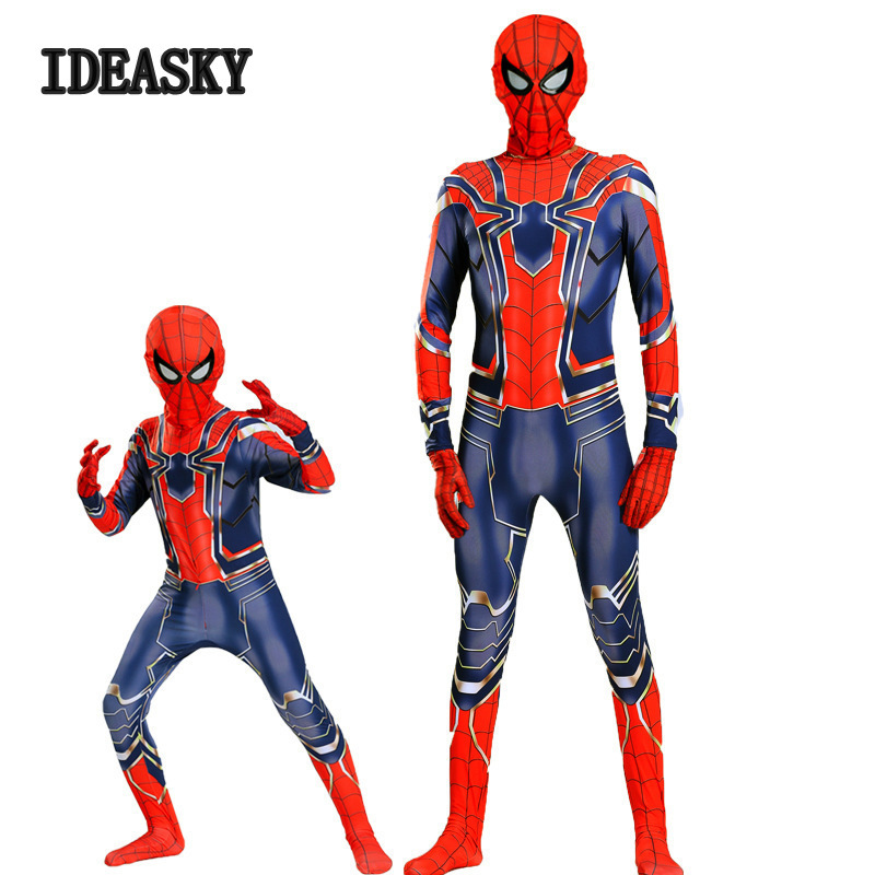 Halloween Costume For Kids Spider Man Amazing Spiderman Iron Spider Costume 3d Adult Suit Cosplay Children Superhero Adult Men