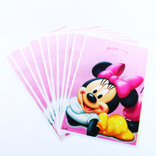 Minnie Mouse Party 10-PCS Party Gift Bag Baby Shower Birthday Party Decorations