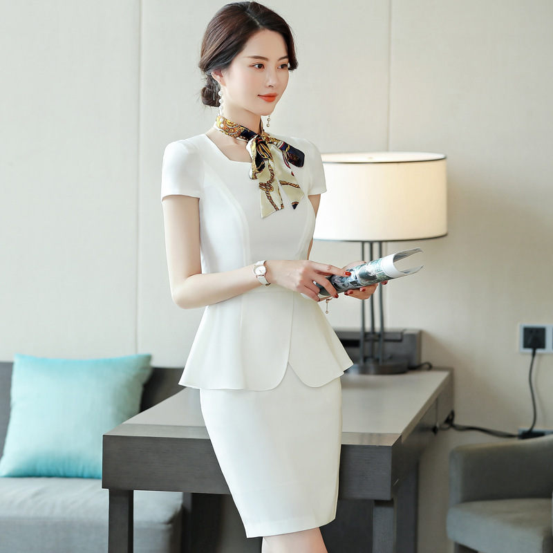 New 2020 Summer Women Formal Pant Suits Short Sleeve Blazer and Pants Office Ladies Business Work Wear Suits Set 2 3 Pieces OL